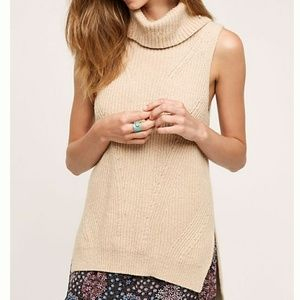 Angel of the North Camel Brown Cowl Sweater Tank